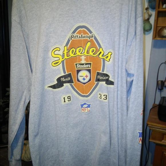 brand new 590fa c715c Pittsburgh Steelers long sleeve baseball T Shirt.